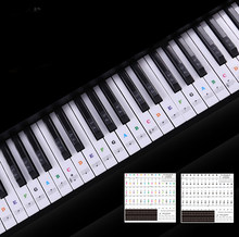 Electronic Piano Keyboard 49 54 61 88 Keys Sound Name Stickers Key Sticker Piano Stave Music Decal Label Note Sticker(China)