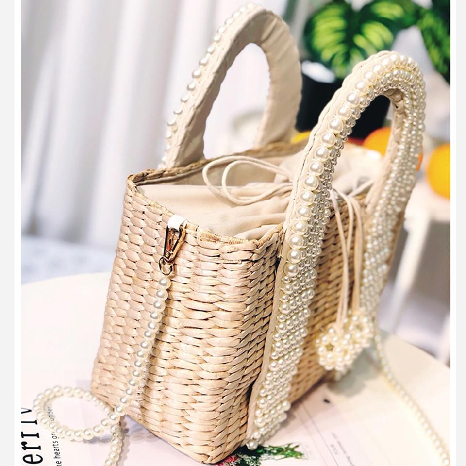 Beach Bag with Pearl (5)