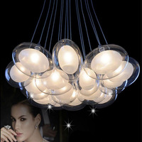 Creative goose egg bubble ball chandelier multi bedroom living room dining room double staircase glass ball chandelier led lamps