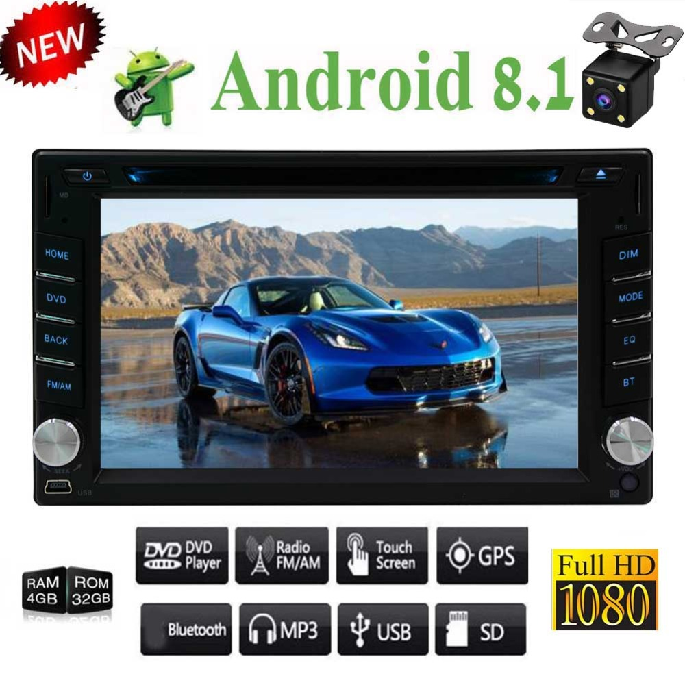 7'' Double Din in Dash Car Radio with Mirrorlink Airplay support Fast Boot Video Out GPS Navigation Bluetooth Wifi OBD2/4G 2din