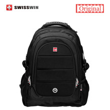 Swisswin Black Business Backpack Male Swiss Military 15 6 Computer Bag Mochila masculino Orthopedic Backpack sac