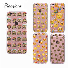 Tendway New Funny Emoji Painting Phone Case For Iphone 6 6s Fashion Soft TPU Back Cover For Iphone 6 6s Plus(China)
