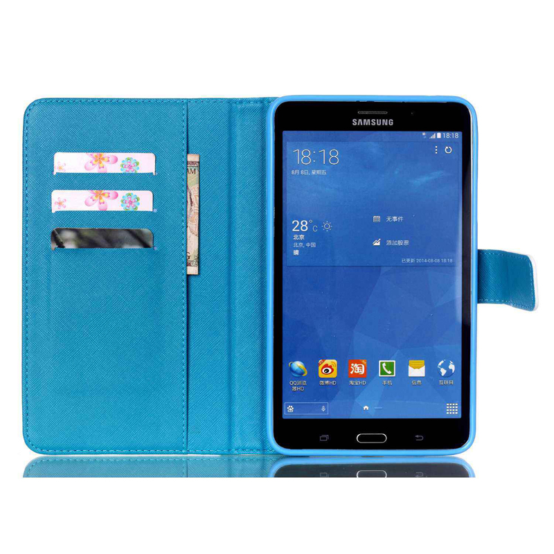 Tablet T230 T231 T235 Funda For Samsung Galaxy Tab 4 7 0inch Luxury Cartoon Leather Wallet Magnetic Flip Case Cover Coque Stand in Tablets e Books Case from Computer Office