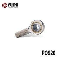 POS20 Rod End Rolamentos Comum POS22 POS25 POS28 POS30 (1 PC) masculino Linha Incrustada Mão Direita de Listagem Rod Termina Rolamento