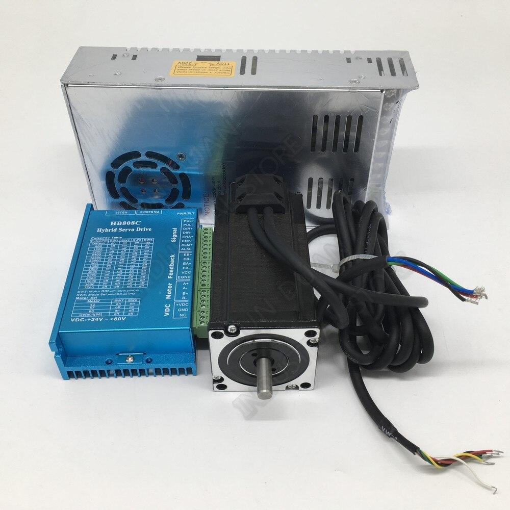 DSP Closed-loop Nema23 2ph Stepper Motor Hybrid Servo Kit 3meter Encoder Cable