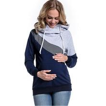 Популярная новинка, футболка для кормящих мам, осенняя Футболка для беременных женщин с длинным рукавом, одежда для грудного вскармливания, топ для кормящих мам, Одежда для беременных