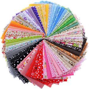 Image 5 - Random Thin Cotton Fabric Patchwork For Sewing Scrapbooking Fat Quarters Tissue Quilt Pattern Needlework Scraps 80pcs 20*24cm