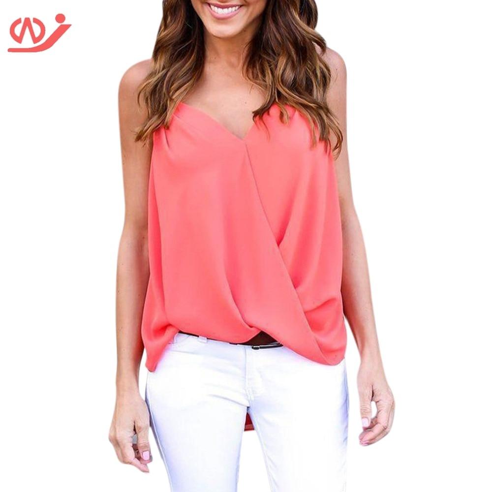Sexy sleeveless cross chiffon shirt vest top women's tee tops plus size t-shirt