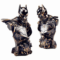 The Avengers 1/4 Resin XM Batman Bust DC Comics Statue Superhero Bronze Paint Garage Kit for Fans Holiday Gift L2627