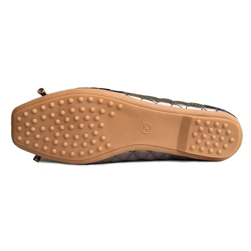 Dames Doux Nouvelle Talon Femmes gris Simples Appartements Bowknote1099 or Printemps Bout Mode Plat Carré Marque 2018 Chaussures Ceyaneao Noir vxdHqgw8g