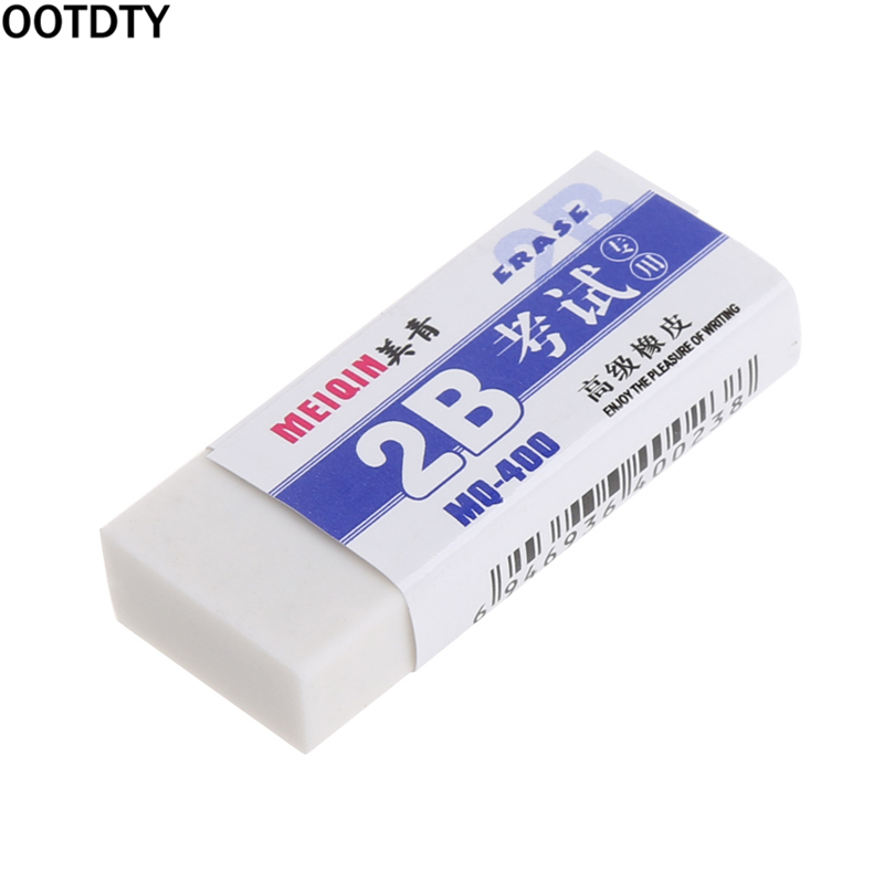 1/2PC Soft Rubber 2B Pencil Eraser For Exam Writing Office School Nursery Gift