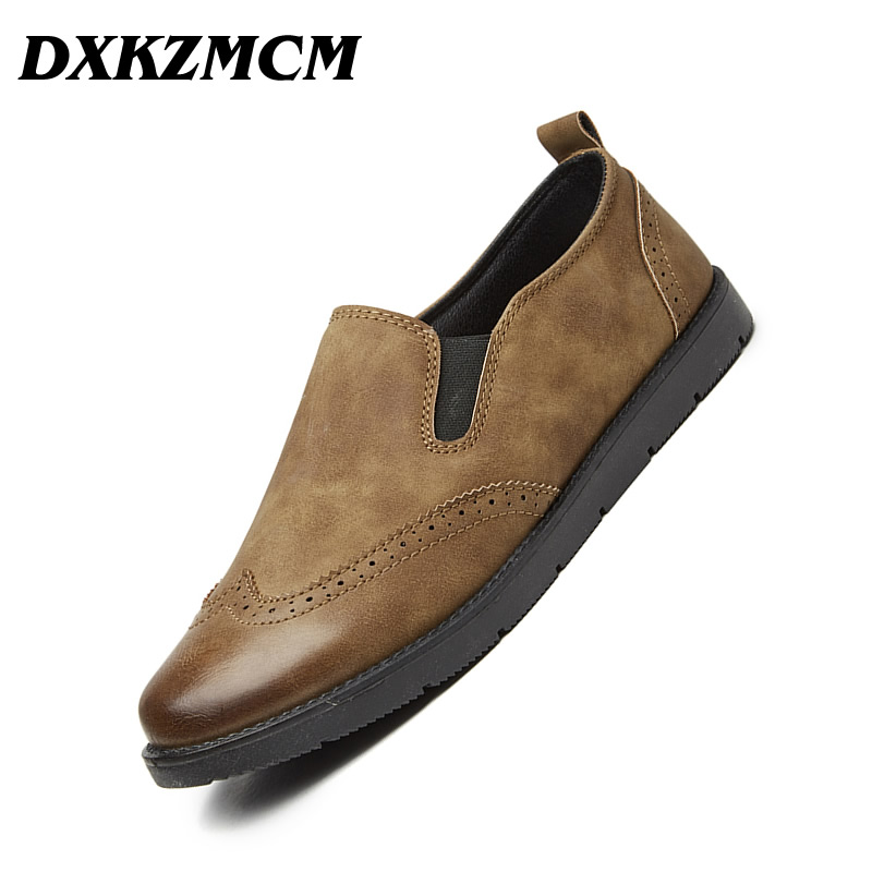 DXKZMCM Breathable Men Loafers Casual Shoes Fashion Flat