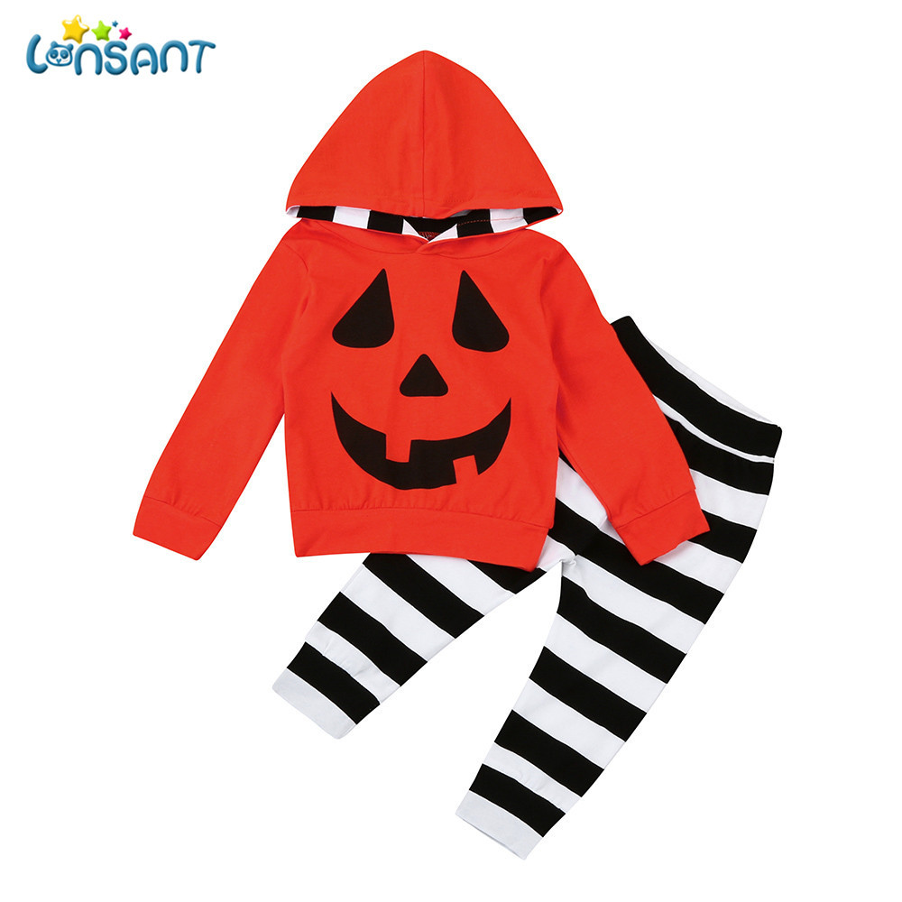 6c022be28ce4e Товар LONSANT Newborn Infants Baby Boys Girls Infant Pumpkin Hooded ...