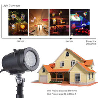 MUQGEW Colorized Auto Moving Projection Lights With 14 Replaceable Lens Xmas Party Garden 2017 Newest Hot