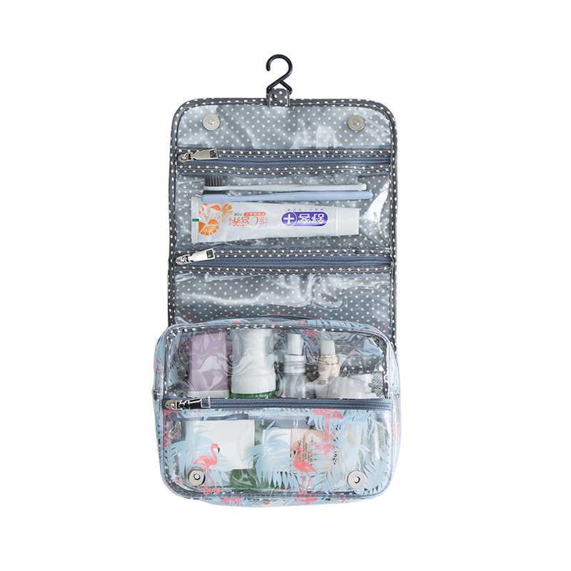 33d8d9350f27 1 Pcs Travel Hanging Toiletry Bag Large Kit Folding Makeup Polyester ...