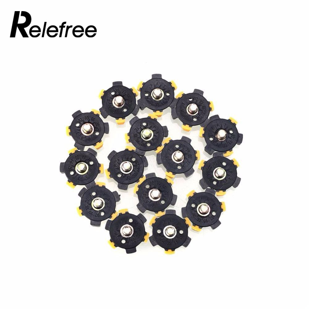 relefree 14Pcs Golf Shoe Spikes Sports Replacement Champ Cleat Screw Twist Foot Hot ...