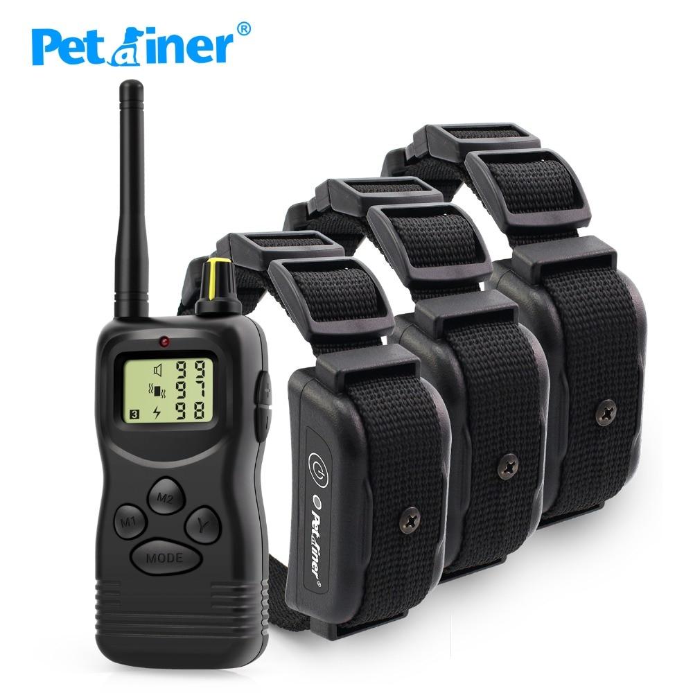 Petrainer 900B 3 ใหม่ล่าสุดออกแบบกันน้ำและชาร์จ 1000 เมตร Dog training อิเล็กทรอนิกส์ shock collar สำหรับสุนัข 3-ใน ปลอกคอสำหรับฝึก จาก บ้านและสวน บน   1