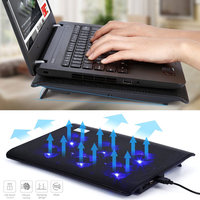 New Portable Laptop Cooler With 6 Fans Cooling Pad 2 USB Ports Adjustable Speed Computer Fan
