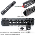 TriRock новый дизайн 9 дюймов M-lok Handguard Rail Free Float Picatinny Mount System Fit. 223/5. 56 AR-15_Black Andoized