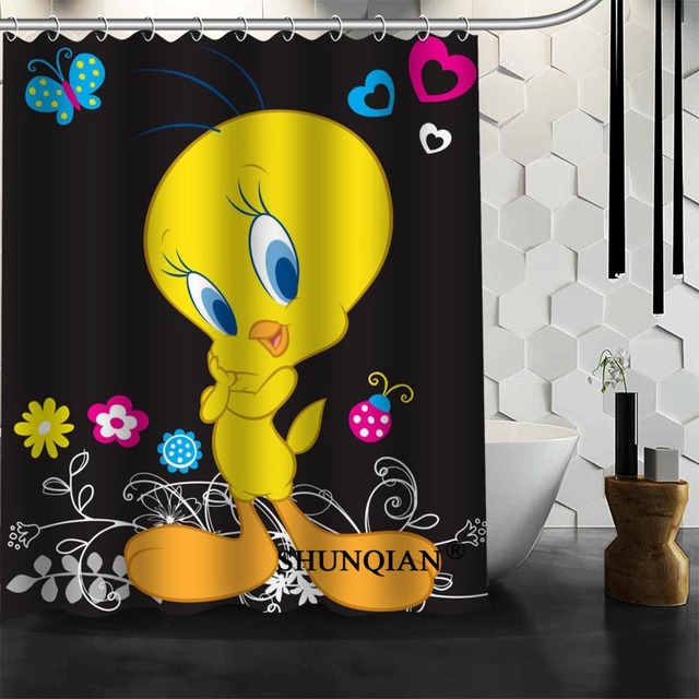 Baby Tweety Bird Shower Curtain Christmas Decorations For Home Waterproof Fabric Bath Bathroom Decor
