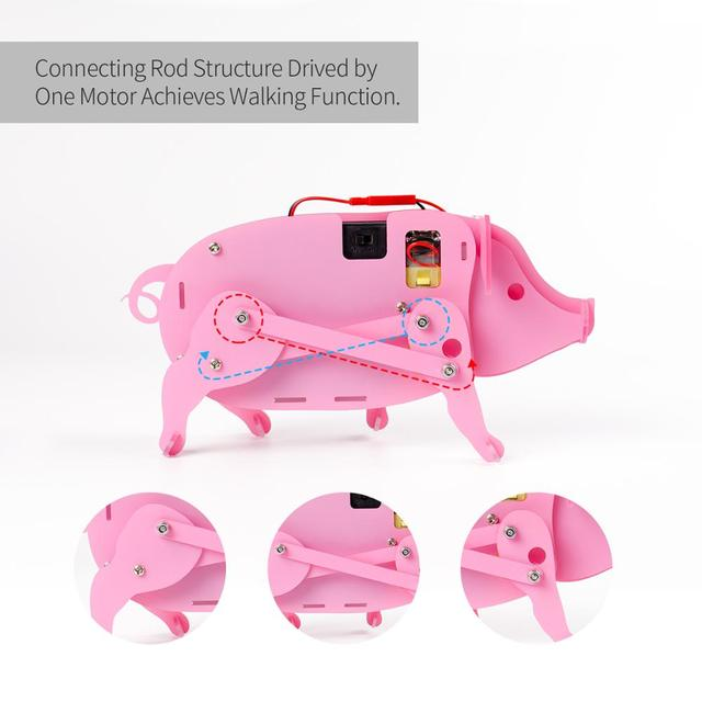 Pig Educational Science Kits Learning Robot Kit for kids