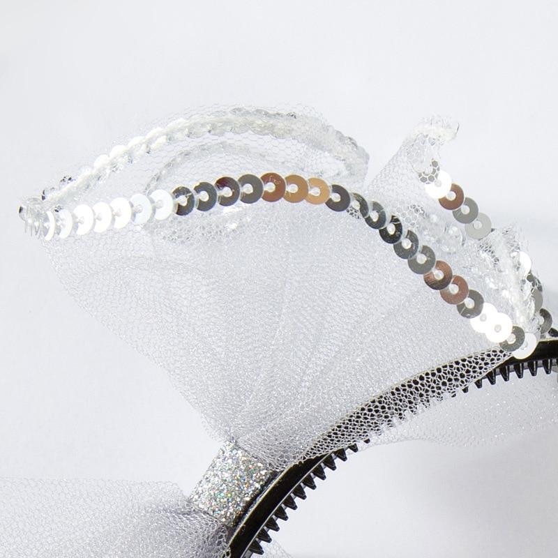 Korea lovely Crystal Flower Hair Accessories For Girls High Quality Hair Band Headband Hair Bow Princess 4