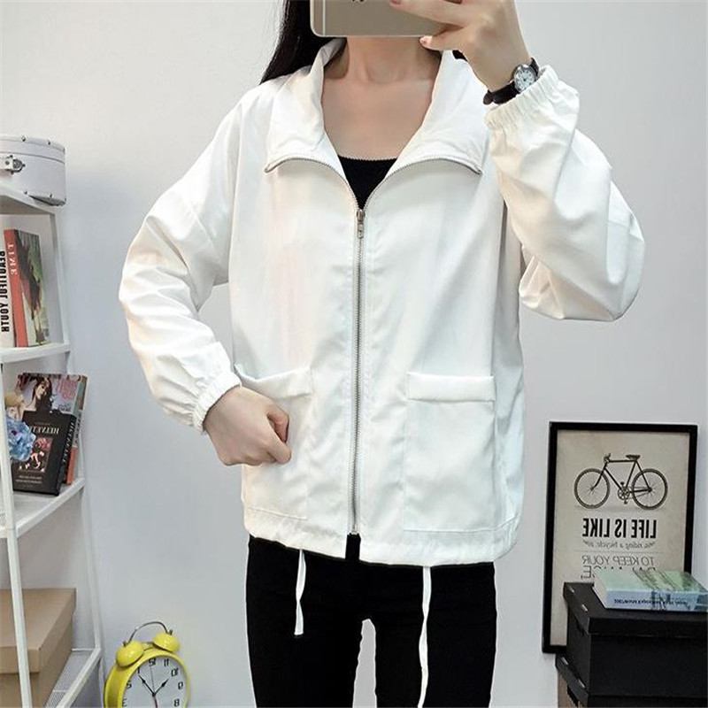 2019 Women New Fashion Bomber   Jacket   Women's   Basic     Jacket   Casual Thin Windbreaker Female Outwear Women Coat C067