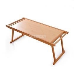 Opvouwbaar Bed Lade Ontbijt Laptop Bureau Natuurlijke Bamboe Lage Tafel Eenvoudige Woonkamer Antieke Thee Serveren Salontafel Meubels