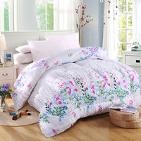 2016 Printed Winter Comforter 220 240cm Autumn Quilt Filler King Queen Duvet Blanket 200 230cm Flower