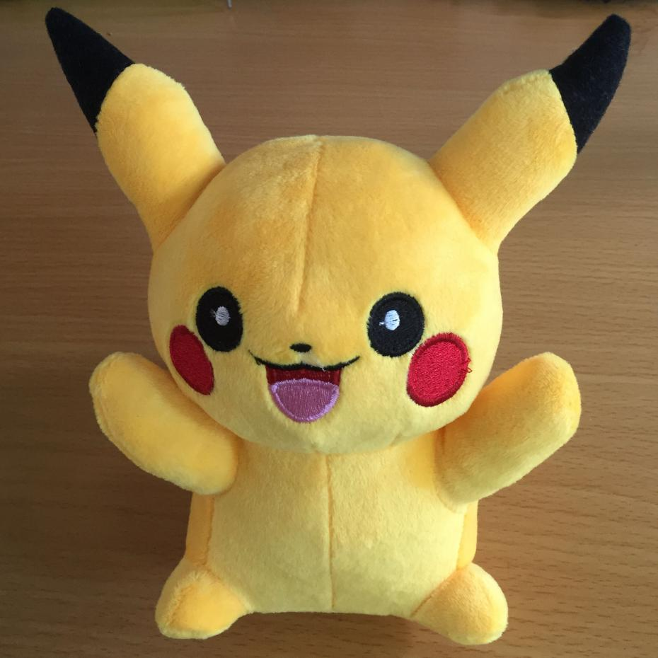 Hot Sale Cute 20cm Pikachu Plush Toys for Children kids Gift Free Shipping