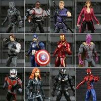 Marvel Legends Civil War Captain America Black Panther Vision Falcon Iron Man PVC Action Figure Anime
