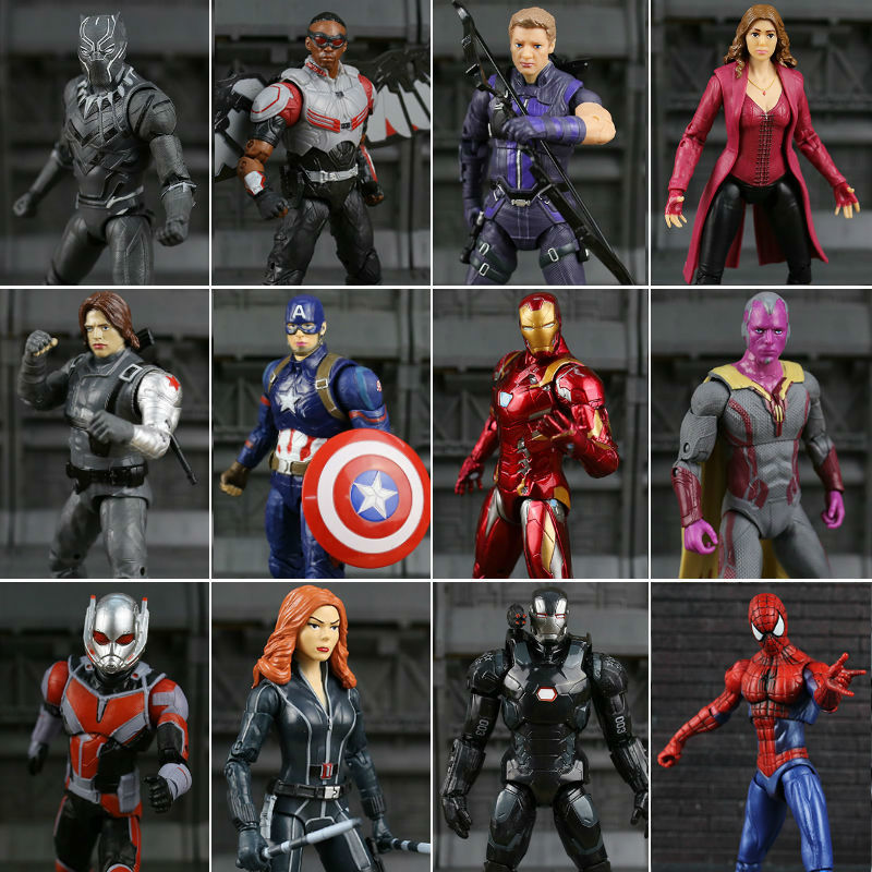 Marvel Legends Civil War Captain America Black Panther Vision Falcon Iron Man PVC Action Figure anime toy deadpool marvel captain america civil war scarlet witch black panther winter soldier falcon pvc action figure collectible model toy