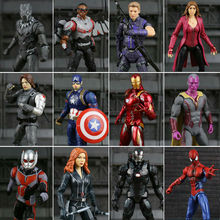Marvel Legends Civil War Captain America Black Panther Vision Falcon Iron Man PVC Action Figure anime toy deadpool