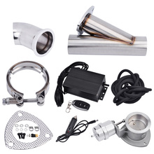 цена на Universal 3.0 Stainless Steel Boost Activated Exhaust Cutout System E-Cut Vacuum Pump Valve With Remote Control