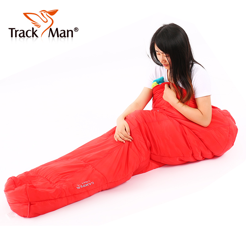 Trackman camping Sleeping Bag Cotton Mummy Hiking Outdoor Winter Sleeping Bag Ultralight Adult Portable Stitching outdoor winter camping tent backpacking mummy sleeping bag