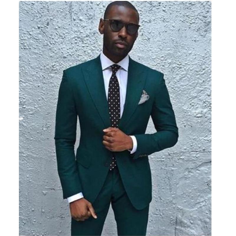 men\'s suits New Dark Green Men Suits Formal Business Tuxedos Men ...