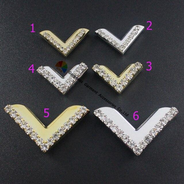 20pcs 20mm Crystal Flag Tips Metal Rhinestone Book Corner Protectors DIY Horse  Browband Garment Accessories Scrapbooking Albums 4d1b03aa3b3d