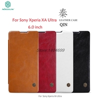 SFor Sony Xperia XA Ultra Case Nillkin Hard Soft Back Cover PC TPU PU Leather Flip