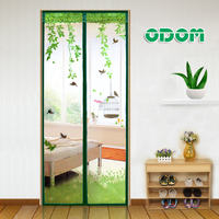 Super Magnetic Printing Door Screen Top Quality Mesh Sheer Door Curtain Anti Mosquito Net Insect Magic