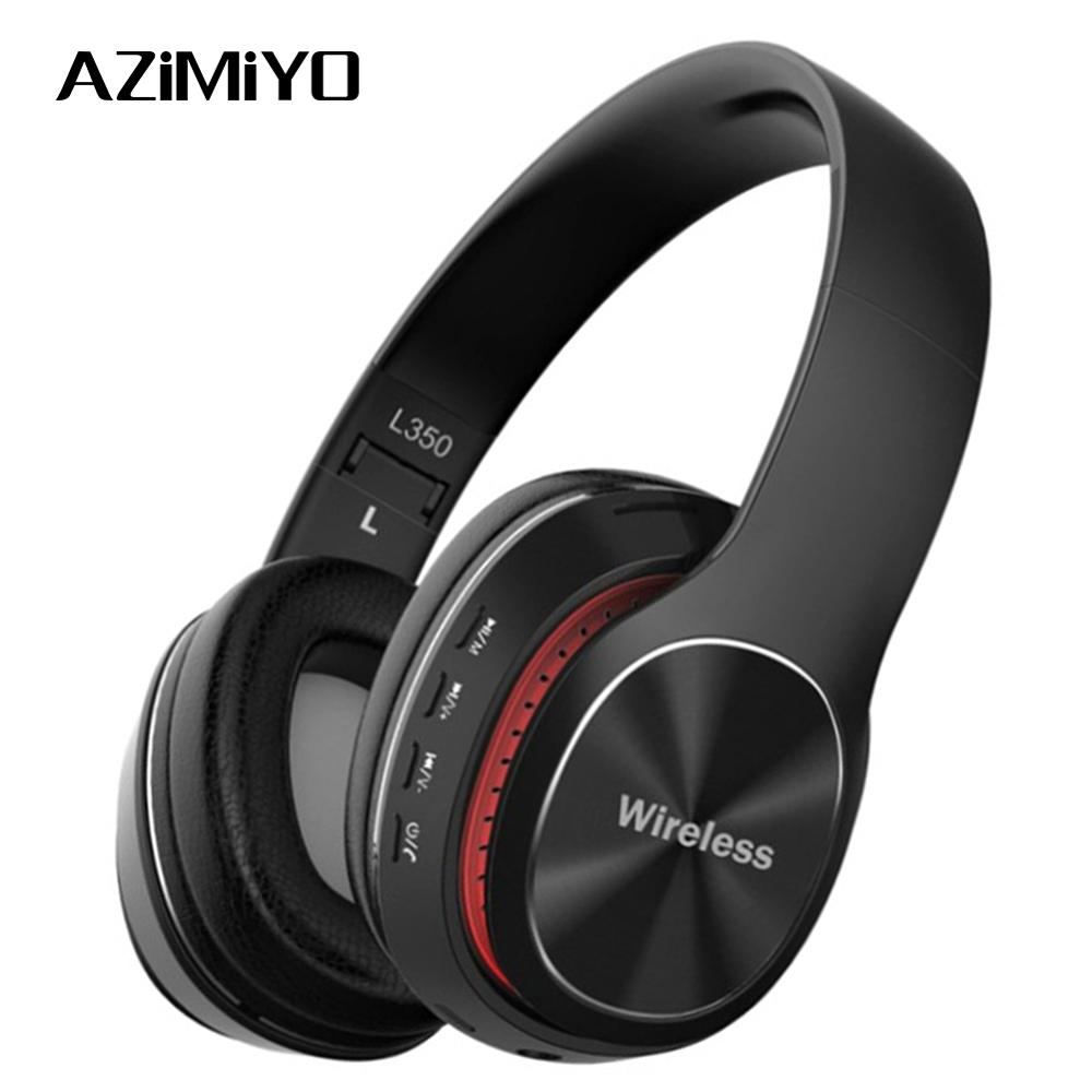 Azimiyo A L350 Bluetooth 5 0 Headphones Wireless Headset Earbuds With Mic Tf Card For Phone Music Foldable Adjustable Earphone Bluetooth Earphones Headphones Aliexpress