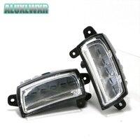 Waterproof Car High Power Aluminum LED Daytime Running Lights With Lens DC 12V Super White 6000K