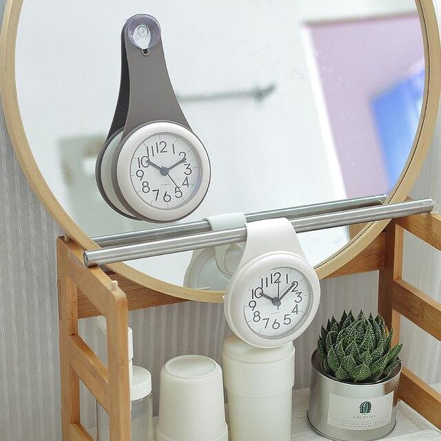 Wasserdichte Uhren Dusche Mode Wanduhren Bad Uhr Küche Saug Uhren ...