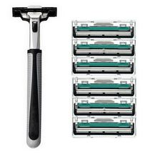 Hot 6pcs lot Blade System Men Face Shaving Blades In Original Package Version Shaving Razor Bladed