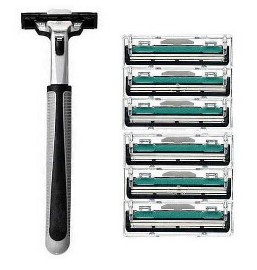 Hot 6pcs lot Blade System Men Face Shaving Blades In Original Package Version Shaving font b