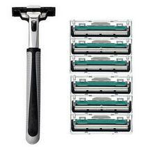Hot 6pcs/lot Blade System Men Face Shaving Blades In Original Package Version Shaving Razor Bladed Shaver Razors Shaving