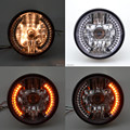 """Ámbar LED redondo de 7 """" de la motocicleta H4 faro con señal de vuelta adapta para Harley Sportster hierro 883 1200 XL 883N Bobber nueva"""