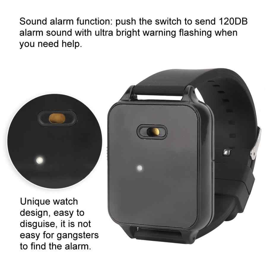 Alarme Pessoal de Segurança multifuncional Recarregável Aparelhos Auditivos Elder Mulheres Relógio de Pulso de Alarme De Proteção de Emergência Portátil
