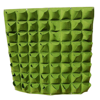 64 Pockets Planting Bags Wall Hanging Gardening Planter Outdoor Indoor Vertical Greening Grow Bags Flower Growing Container