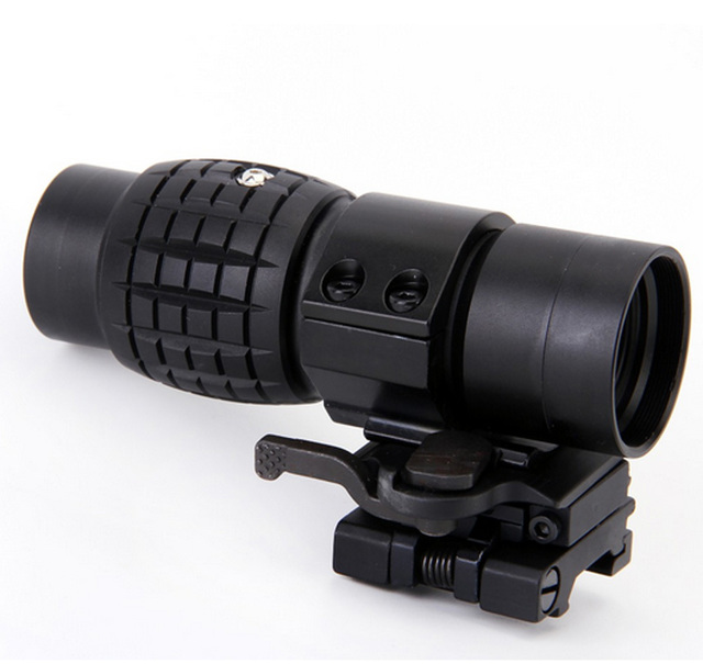 Tactical 3X Blue film Magnifier Scope Optics Scopes Riflescope Fits Aimpoint Sight with Flip To Side Picatinny Weaver Rail Mount