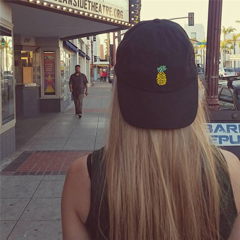 Women   Baseball     Cap   Snapback 3D Pineapple Pattern Printed Hat Unisex Hip Hop Style Spring Hats For Girls Casquette Homme